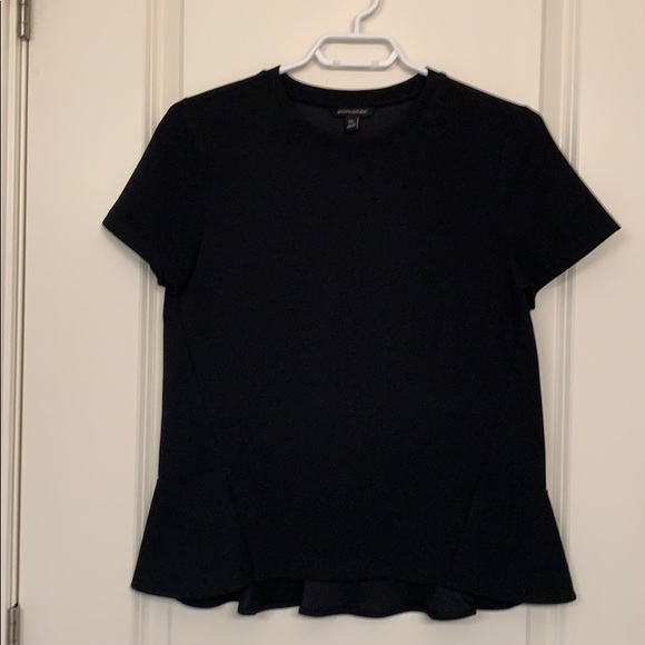 Banana Republic black flutter back shirt